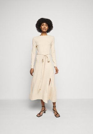 LONGSLEEVE DRESS - Jumper dress - oatmeal