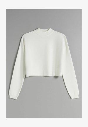 MIT ROLLKRAGEN - Jumper - white