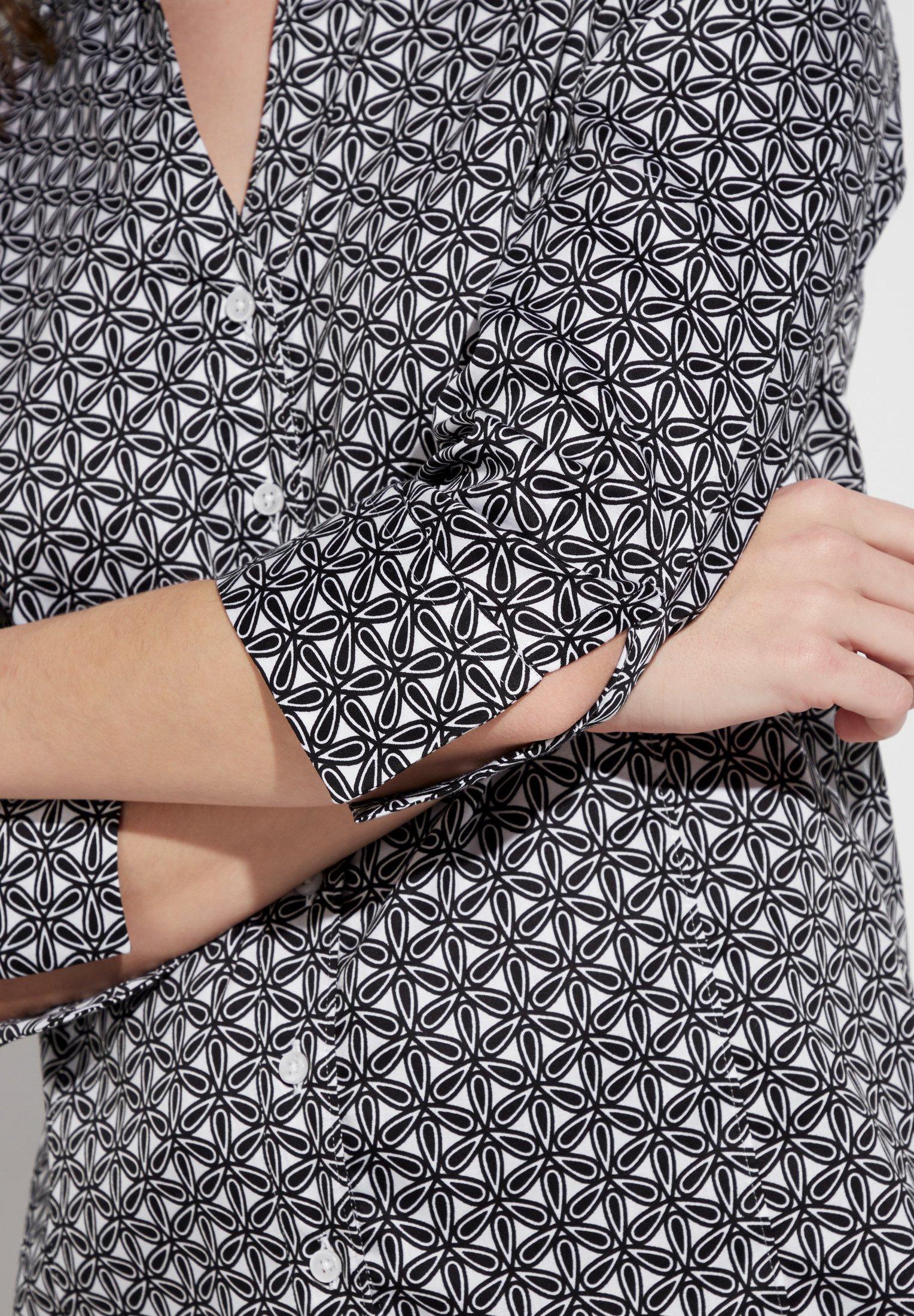 Eterna Overhemdblouse - black/white - Dameskleding Klassiek