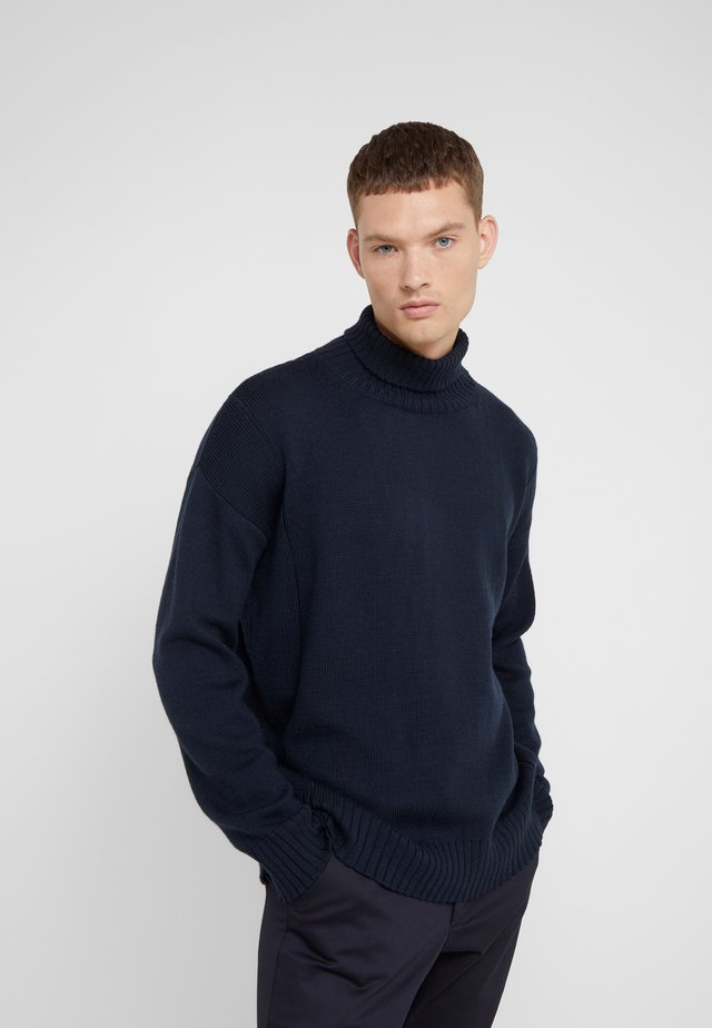 LOUIS TURTLENECK  - Stickad tröja - navy