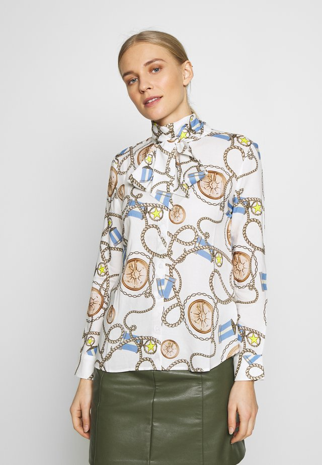 BLOUSE WITH COLLAR - Button-down blouse - white
