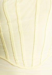 Missguided - CORSET DETAIL BARDOT BODYCON DRESS - Robe de soirée - cream - 5