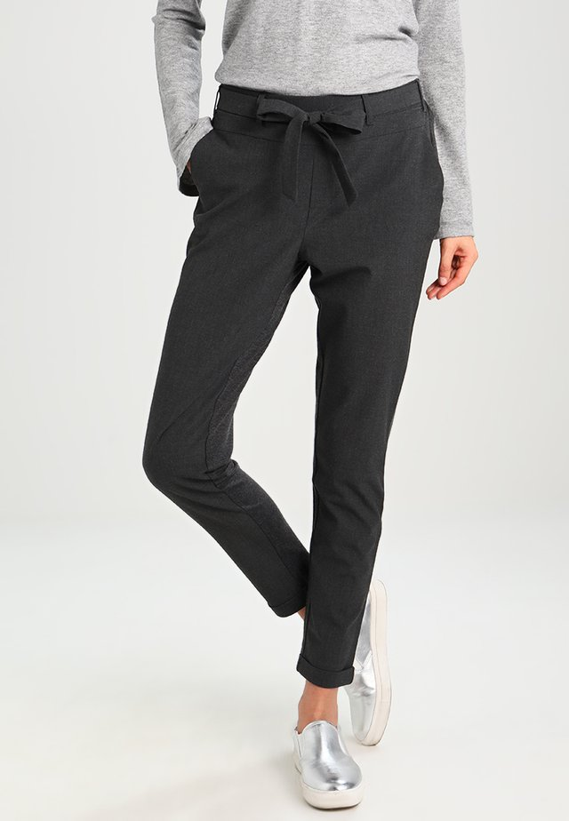 JILLIAN BELT PANT - Broek - dark grey melange
