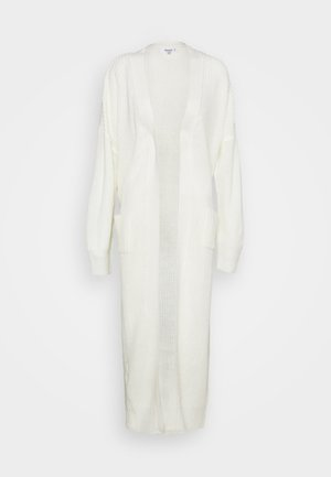 LONGLINE PATCH POCKET  - Cardigan - off-white