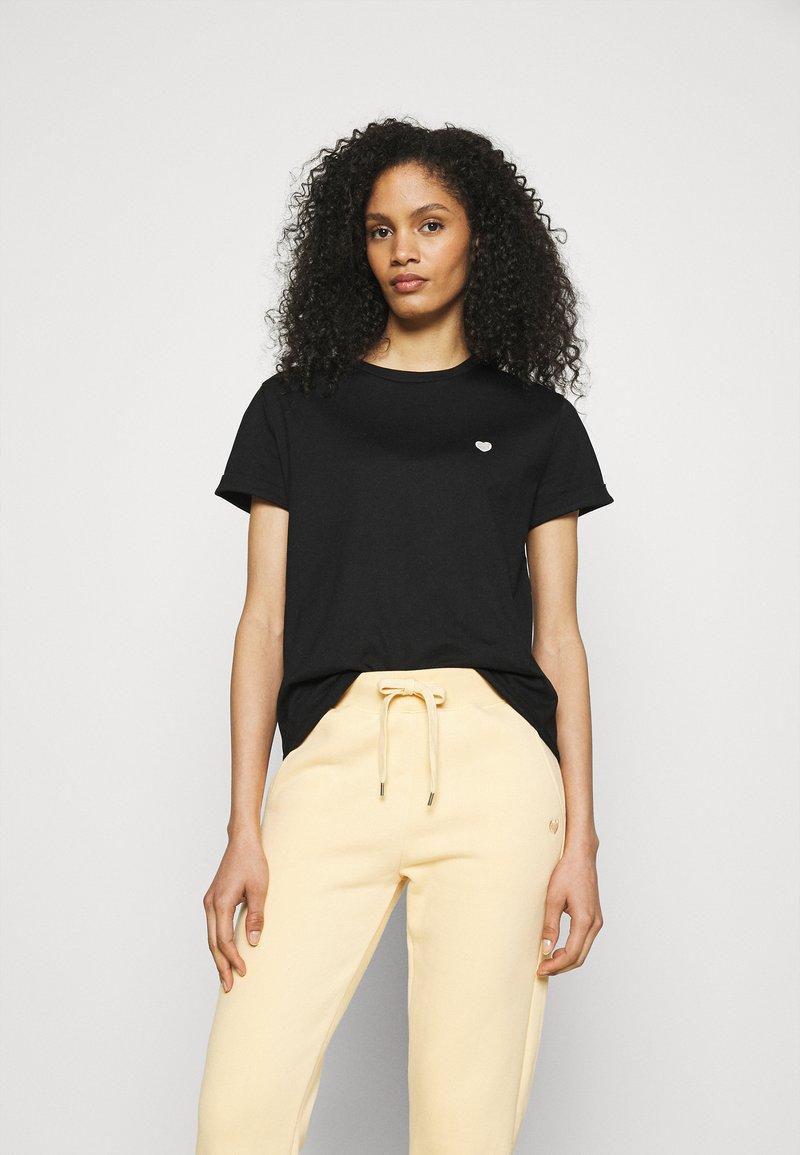 Opus - SERZ - Basic T-shirt - black