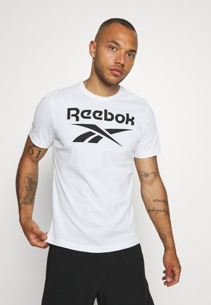STACKED TEE - Print T-shirt - white
