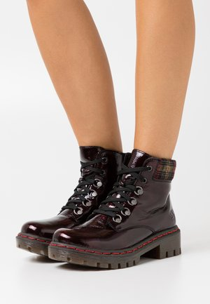 Lace-up ankle boots - bordeaux/wine