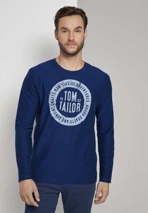 MIT LOGO-PRINT - Long sleeved top - after dark blue
