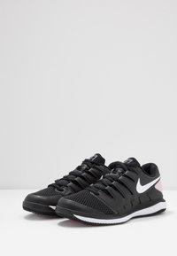 Nike Performance - NIKECOURT AIR ZOOM VAPOR X - Multicourt tennis shoes - black/white/pink foam - 3
