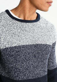 Pier One - Strikpullover /Striktrøjer - mottled dark blue - 3