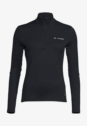 LIVIGNO HALFZIP II - Long sleeved top - black
