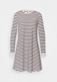 ISA DRESS - Jersey dress - off-white/navy