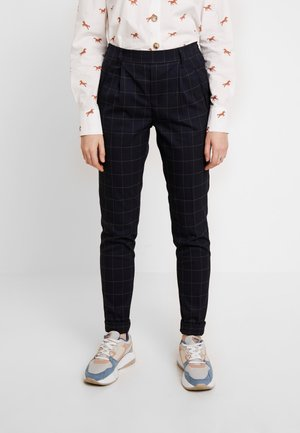 ONLABBIE CHECK PANT - Trousers - night sky