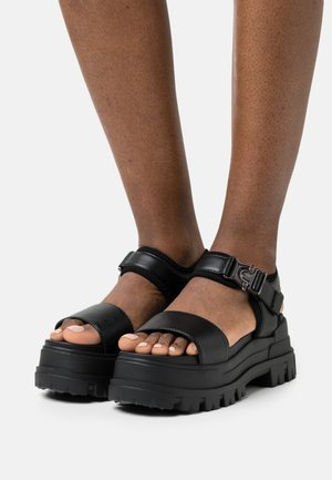 VEGAN JOJO - Platform sandals - black