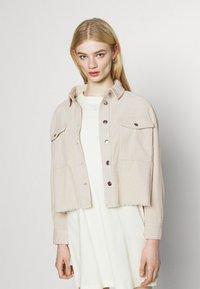 ONLY - ONLMARINA BITTEN LIFE - Summer jacket - pumice stone - 0