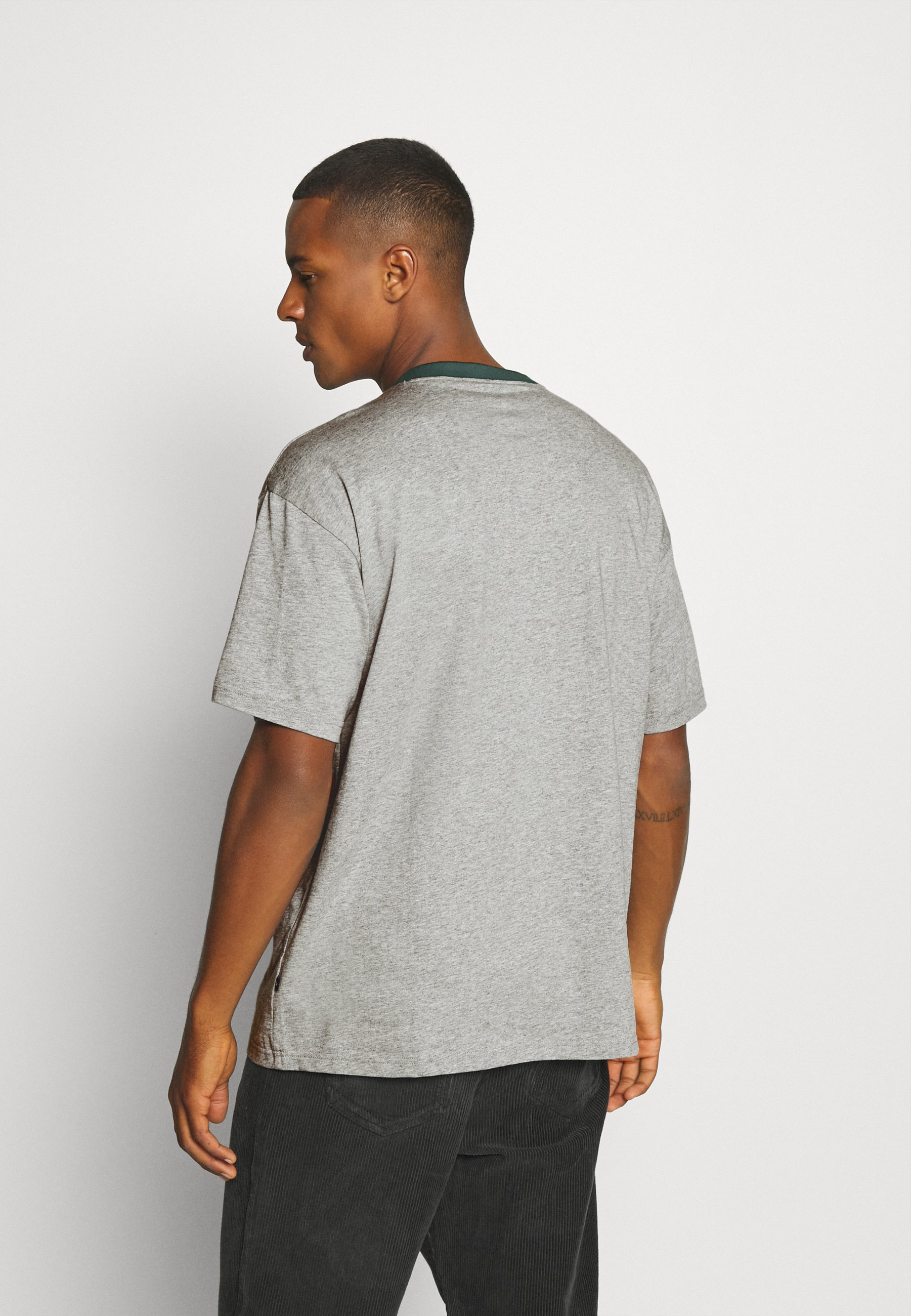 Converse WORDMARK OVERSIZED TEE - Print T-shirt - mottled grey YeVtL