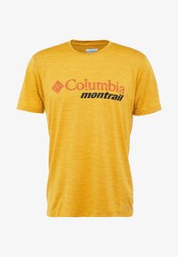 Columbia - TRINITY TRAIL™ GRAPHIC TEE - Print T-shirt - bright gold - 5