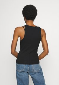 Weekday - CALYPSO CUT OUT TANK - Topper - black - 2
