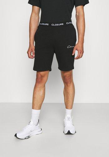 BRANDED WAISTBAND  - Shorts - black