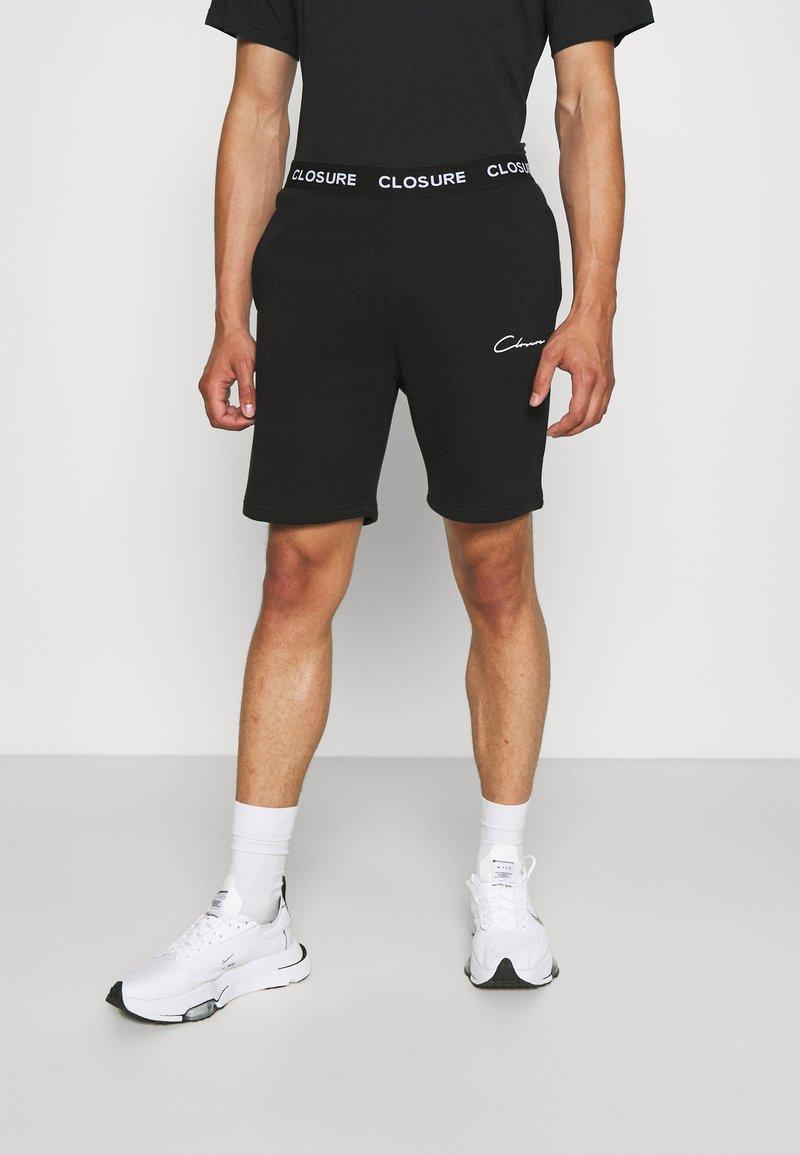 CLOSURE London - BRANDED WAISTBAND  - Shorts - black