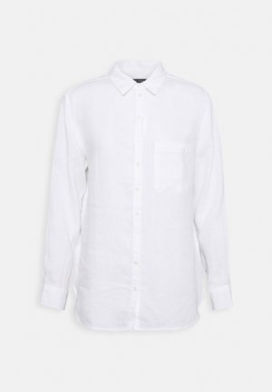 BLOUSE LONG SLEEVED EASY SHAPED - Button-down blouse - white