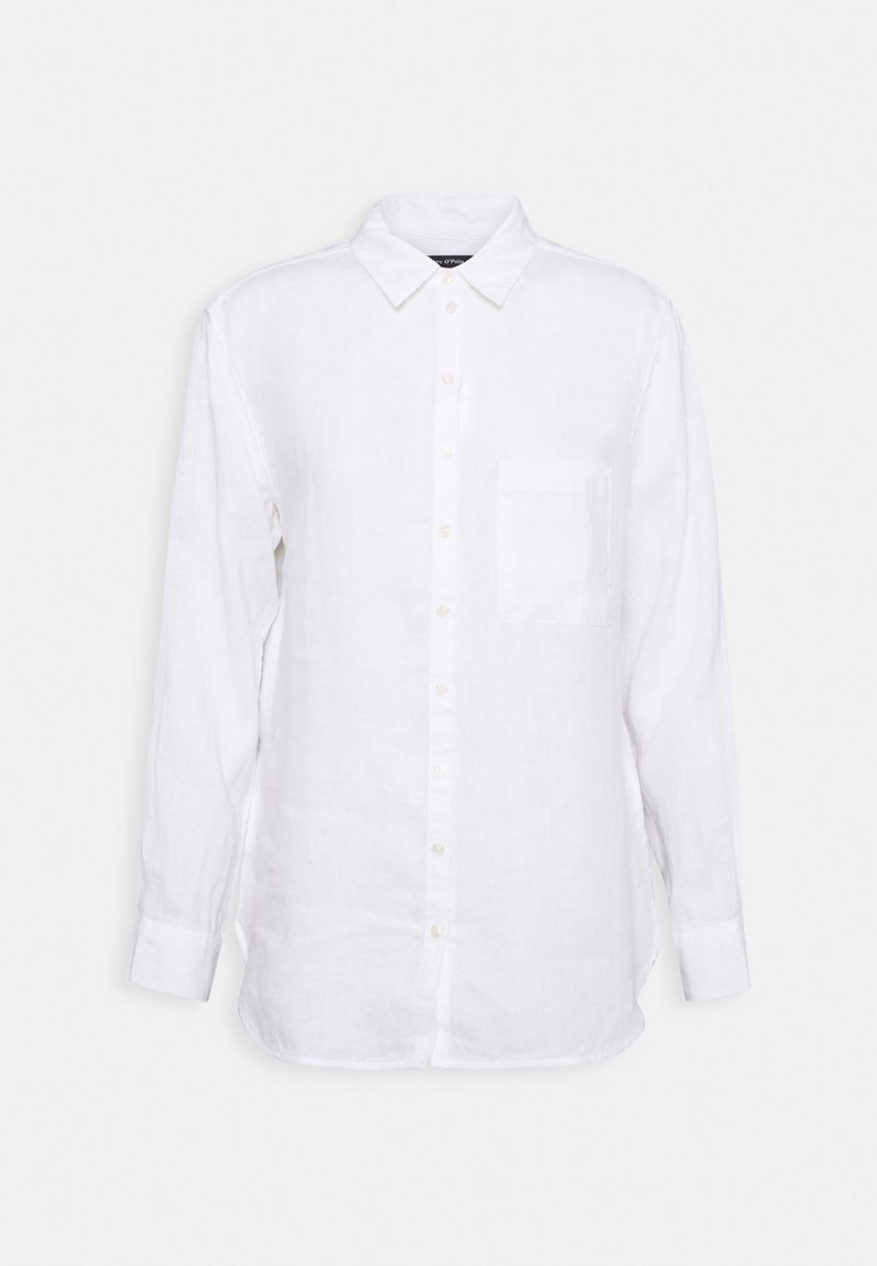 Marc O'Polo - BLOUSE LONG SLEEVED EASY SHAPED - Button-down blouse - white