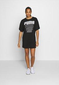 Puma - REBEL LIGHT WEIGHT TEE DRESS - Vestido de deporte - black - 0