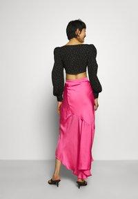 Who What Wear - ASYMMETRIC SLIP SKIRT - Maxi skirt - doll pink - 2