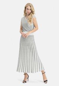 Nicowa - MINOWA - A-line skirt - white/black - 1