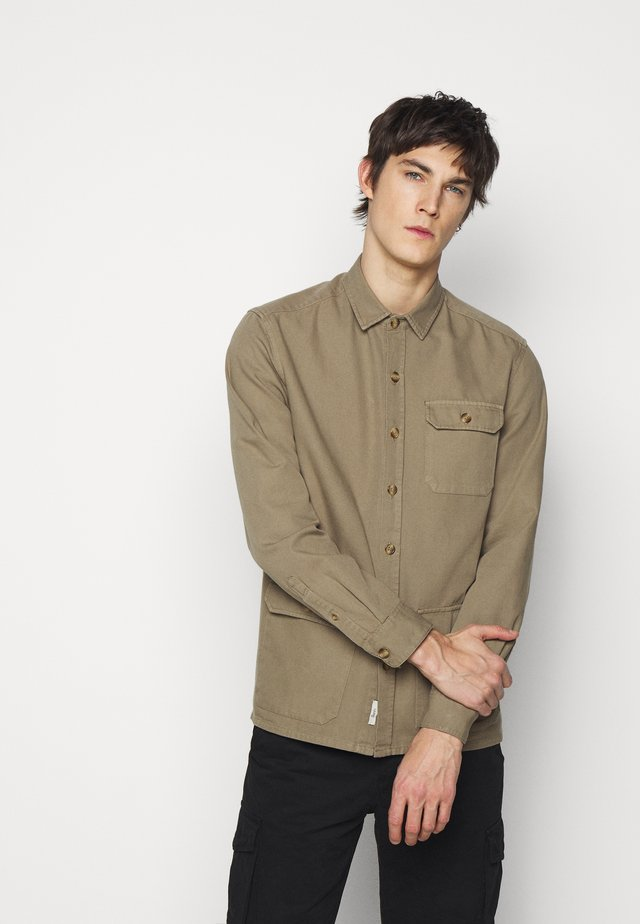 BOAR OVERSHIRT - Summer jacket - stone