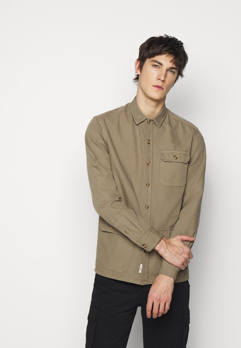 forét - BOAR OVERSHIRT - Summer jacket - stone