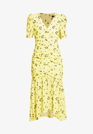 THE RUCHED FISHTAIL DRESS - Day dress - yellow
