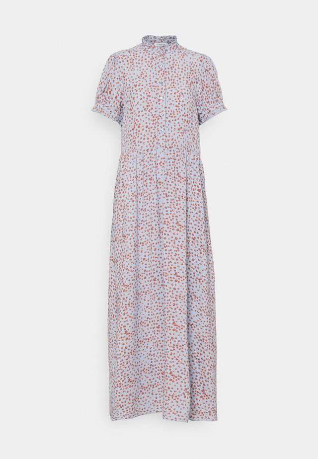 FLEUR FLOWER PRINT MAXI DRESS VEGAN - Maxi-jurk - asley blue