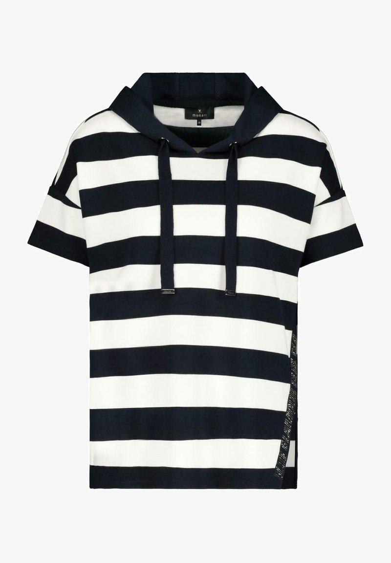 Monari - MIT KAPUZE - Print T-shirt - night blue