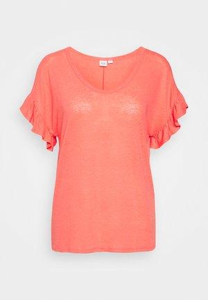 V TEE - Basic T-shirt - florida coral