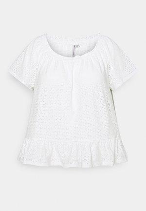 CARLINY OFF SHOULDER - Print T-shirt - cloud dancer
