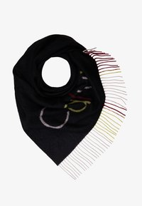 Calvin Klein - TRIANGULAR SCARF MULTI - Foulard - black - 1