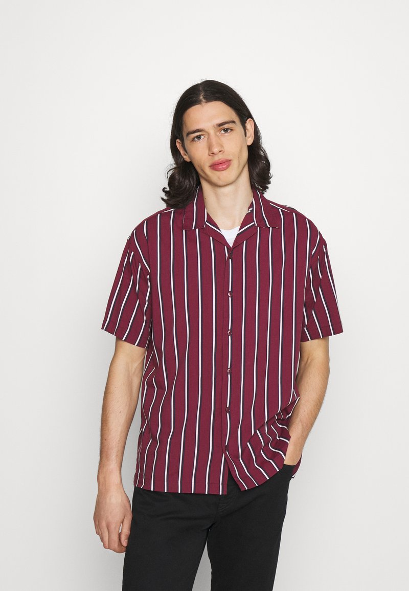 Jack & Jones PREMIUM - JPRBLASTRIPE RESORT SHIRT - Shirt - zinfandel