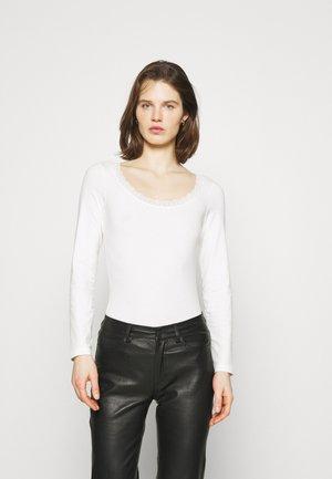 Langærmede T-shirts - offwhite