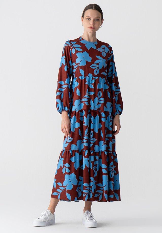 FLORAL RUFFELD - Robe d'été - blue