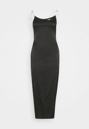 DIAMANTE TIE STRAP MIDAXI DRESS - Robe d'été - black