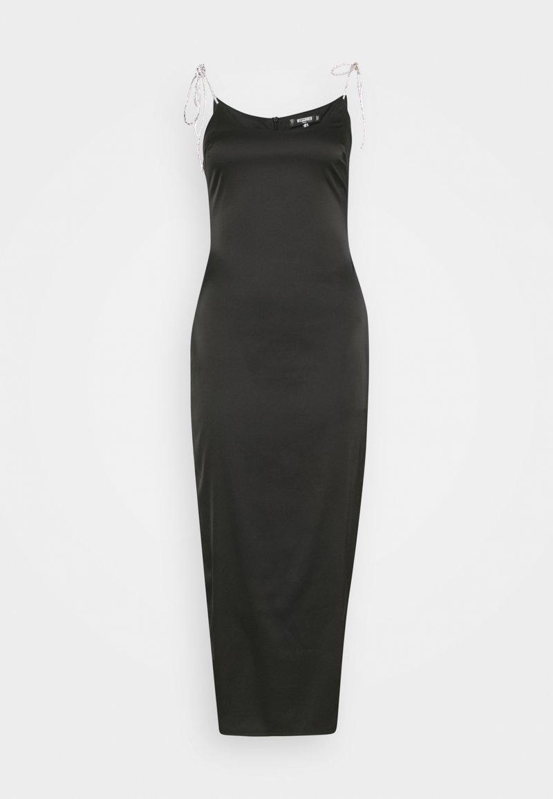 Missguided Tall - DIAMANTE TIE STRAP MIDAXI DRESS - Day dress - black