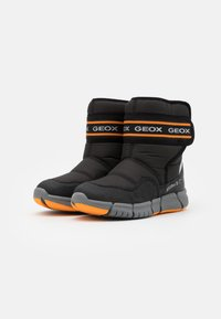 Geox - FLEXYPER BOY ABX - Winter boots - black/orange - 1