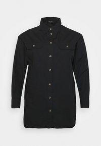 CAPSULE by Simply Be - LONGLINE  - Button-down blouse - black - 3