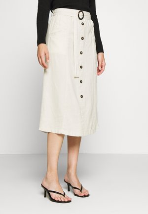 ONLBECCA BELTED MIDI SKIRT PETIT - A-line skirt - almond milk