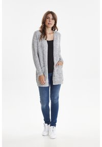 Fransa - FREMALLY - Cardigan - light grey melange - 1