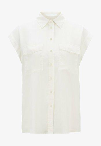 Button-down blouse - natural