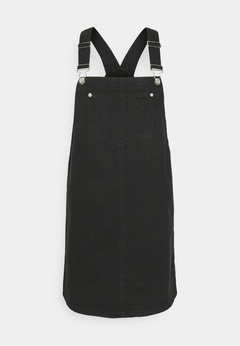 New Look - PADDY PINNY - Robe en jean - black