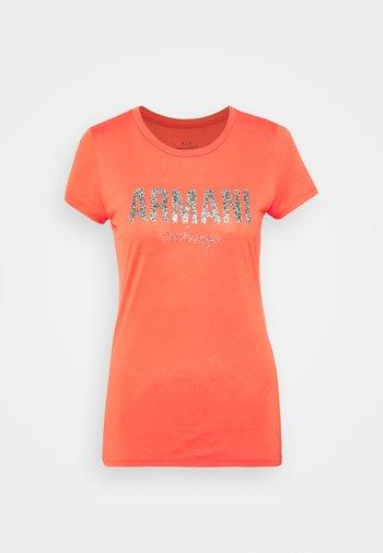Print T-shirt - sangria