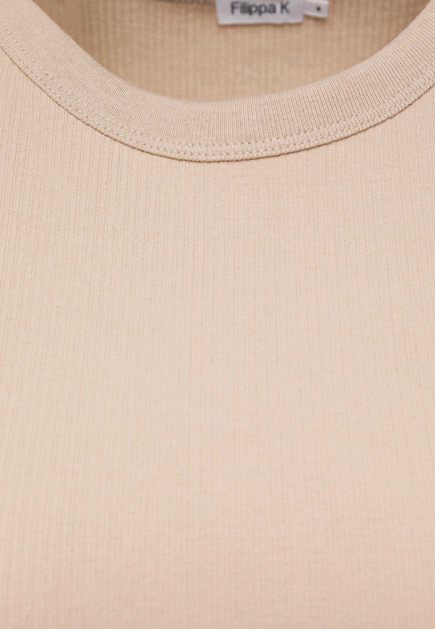 Filippa K FINE TEE - T-shirt basique - sand beige - Tops & T-shirts Femme cKR6w